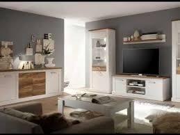 wohnwand und esszimmermöbel toronto pinie weiß mit nussbaum satin