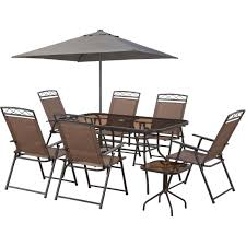 Courtyard Creations Patio Table by Courtyard Creations Arrowhead 9 Pc Sling Folding Set Tables