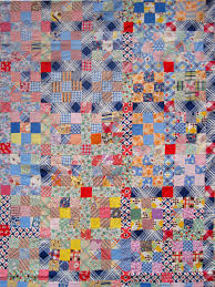 Vintage Nine Patch Quilt Top – Q is for Quilter