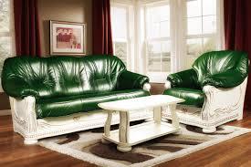 mailand couchgarnitur mit holzgestell und schnitzerei 2 sessel couchtisch grün weiß mit goldener patina
