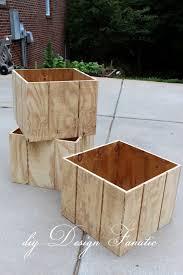 diy design fanatic how to make a wood planter box