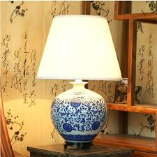 Ceramic Table Lamps For Bedroom by Chinese Table Lamps Vintage Classic White Blue Porcelain Table
