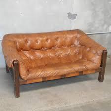 mid century vinyl sofa in the manner of percival lafer