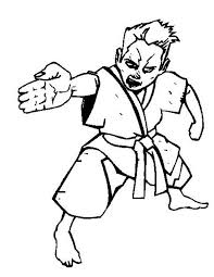 Karate Kid Spear Hand Style Colouring Page