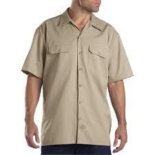 dickies big and tall men u0027s short sleeve twill work shirt walmart com