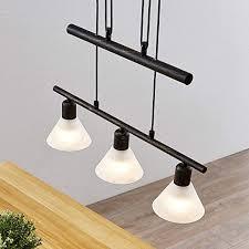 lindby hängele 3 flammig höhenverstellbar schwarz gold gebürstet esstisch pendelleuchte glas metall hängeleuchte für esszimmer wohnzimmer