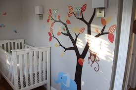 Wall Mural Decals Tree by Decorating Ideas Entrancing Image Of Baby Nursery Room Decoration