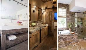 30 Awesome Ideas To Add Rustic Style Bathroom