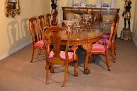Antique Walnut Dining Table Set