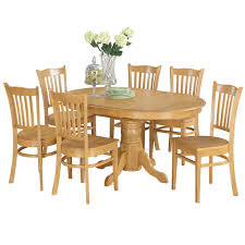 7-piece Formal Oval Dinette Table With Leaf And 6 Dining Chairs - Oak Realyn Ding Room Extension Table Ashley Fniture Homestore Gs Classic Oak Oval Pedestal With 21 Belmar New Pine Round Set Leaf 7piece And 6 Chairs Evelyn To Wonderful Piece Drop White Mahogany Heart Shield Back Details About 7pc Oval Dinette Ding Set Table W Extendable American Drew Cherry Grove 45th 7 Traditional 30 Pretty Farmhouse Black Design Ideas Kitchen