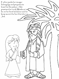 Story Of Esther Colouring Pages