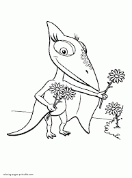 Buddy One Of Main Characters Dinosaur Train Coloring Pages