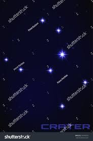 Vector Illustration Of Crater Constellation In Blue