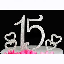 Buy 15th Birthday Quinceanera Cake Topper Bling Birthday Caketop