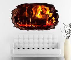 3d wandtattoo feuer lagerfeuer kamin flamme holz selbstklebend wandbild wohnzimmer wand aufkleber 11l211 wandtattoos und leinwandbilder
