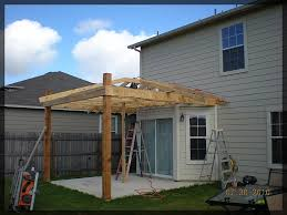 Patio Roof Design Plans And Popular Job In Progress Framing Out