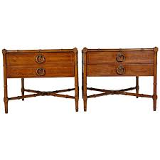 Drexel Heritage Sofa Table by Drexel Heritage Grand Tour Faux Bamboo Side Tables Pair At 1stdibs