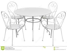 Traditional Wrought Iron Round Dining Table And Elegant ...