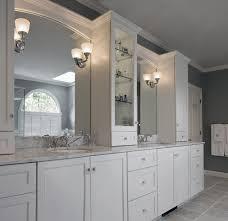 bathroom white stained oak wood standing bathroom linen cabinet