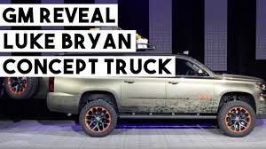 GM REVEAL Luke Bryan Concept Truck SEMA Show 2017 - YouTube