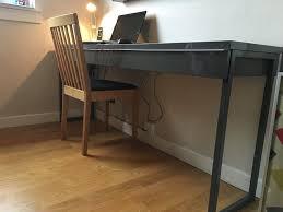Besta Burs Desk White by Ikea Besta Burs Desk With 2 Drawers In High Gloss Grey In