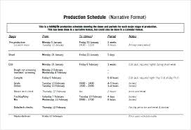 To Film Production Schedule Template Documentary Shooting