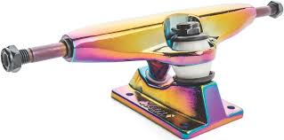 Slant Standard Skateboard Trucks - Oil Slick   Slant Trucks ... Globe Slant Reverse Kgpins 180mm Skateboard Truck Silver Longboard Trucks Cheap Mindless Paris 5 X2 Horizon Blue 760 Black 525 Geminon 35 Complete Silverred Free Shipping Uk Delivery On All Orders From Surfdome Full On Arcoalchromantic 80 And Raw 50 Component Skateboards Buy Online Amazoncom Globe Bantam Graphic St Cruiser