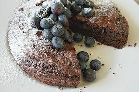 veganer schokokuchen rezept mit blaubeeren