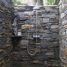 Small Narrow Bathroom Design Ideas by Bathroom Narrow Bathroom Design With Granite Stone Wall And