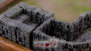 Making 3d Dungeon Tiles by Rampage Dungeon Tiles Basic Set By Printablescenery Thingiverse