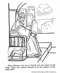 Kids Coloring Page From Whats In The Bible Featuring King