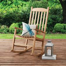 Mainstays Solid Wood Slat Outdoor Rocking Chair - Walmart.com Mainstays Cambridge Park Wicker Outdoor Rocking Chair Folding Plush Saucer Multiple Colors Walmartcom Mahogany With Sling Back Natural 6 Foldinhalf Table Black Patio White Solid Wood Slat Brown Shop All Chairs