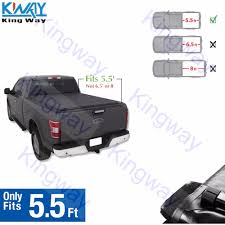 100 Truck Bed Covers Roll Up US 13999 FREE SHIPPING King Way Black 55 55 Ft Soft Tonneau Cover For 2004 2018 Ford F 150in Car From Automobiles