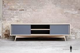 bureau chene clair meuble tv bas chene bois made in scandinave