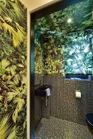 dschungel im gäste wc bad modern badezimmer sonstige