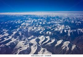 mountain ranges of himalayas himalayas aerial view himalayan mountain stock photos himalayas