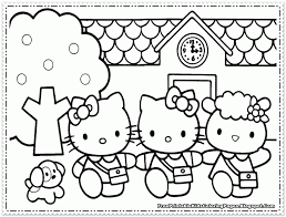 Baby Disney Characters Coloring Pages Hello Kitty Babies Learn