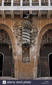 100 Antoni Architects The Entrance Of Palau Guell Architect Gaudi Raval Stock