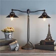 Double Arm Vintage Industrial Desk Lamp Shades of Light Polyvore