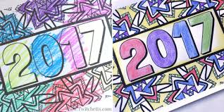 Grab This Fun 2017 New Years Eve Coloring Page To Entertain Your Kids Free