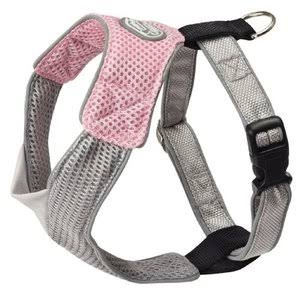 Doggles HAOMXS02 V Mesh Dog Harness - Pink/Grey, X-Small