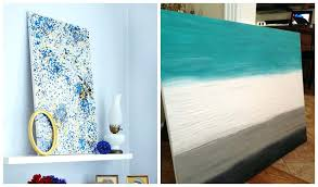 Do It Yourself Canvas Paintings Creative Easy Wall Art Ideas Multiple