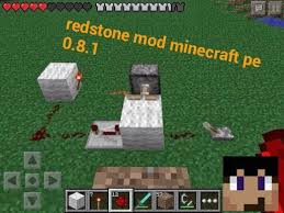mod script redstone minecraft pe 0 8 1 youtube