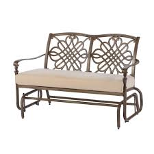 Hampton Bay Cavasso Metal Outdoor Glider With Oatmeal Cushion-171 ... Intertional Caravan Valencia Resin Wicker Steel Frame Double Glider Chair Details About 2seat Sling Tan Bench Swing Outdoor Patio Porch Rocker Loveseat Jackson Gliders Settees The Amish Craftsmen Guild Ii Oakland Living Lakeville Cast Alinum With Cushion Fniture Cool For Your Ideas Patio Crosley Metal And Home Winston Or Giantex Textilene And Stable For Backyardbeside Poollawn Lounge Garden Rocking Luxcraft Poly 4 Classic High Back