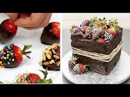 CHOCOLATE HACKS Strawberry Box Cake Easy Chocolate Technique By Cakes Step