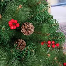 Christmas New Year Preferred 210CM 21M Small Red Berries Mixed Pine Cones Tree Needles Decoration In From Home Garden On