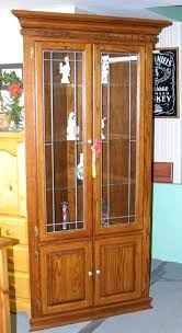 corner china cabinet lighted corner curio cabinet corner china