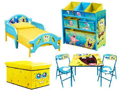 Spongebob Toddler Bedroom Bundle Set Bed Toy Bin Organizer ...