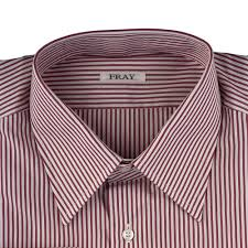 burgundy striped cotton dress shirt fray dress shirts sandro b