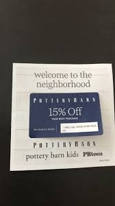 Pottery Barn Coupon In Los Angeles - Letgo